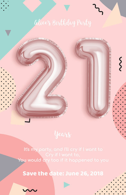 Online Flyer Maker to Design a Birthday Party Flyer a225