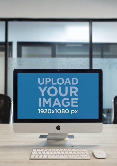 iMac Mockup Standing on an Office Desk a20968