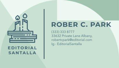 Book Editor Business Card Maker a221