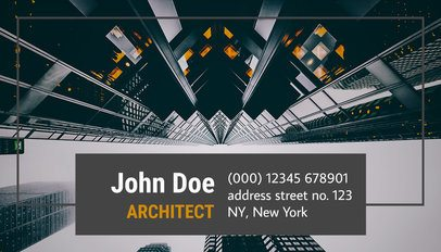Architect Business Card Maker a182
