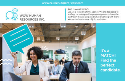 Human Resources Horizontal Flyer Make a229