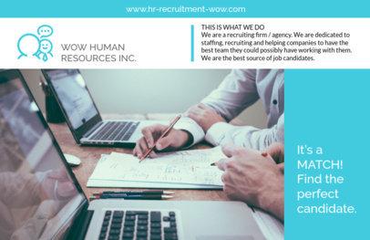 Human Resources Horizontal Flyer Make a229