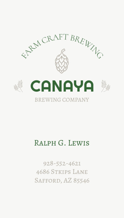 Brewery Business Card Template a76