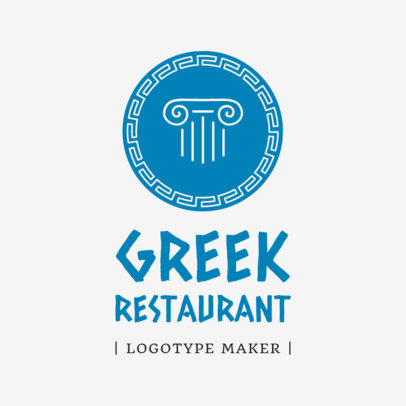 Greek Restaurant Logo Maker a1218
