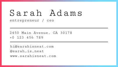 Minimal Business Card Template a250
