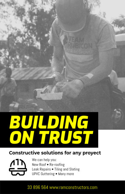 Construction Flyer Maker with Photographs a240