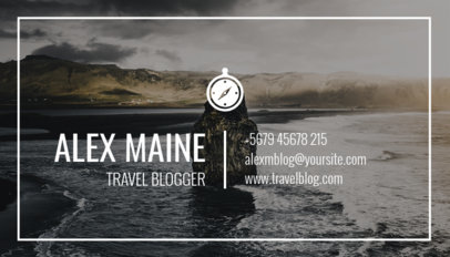 Travel Blogger Business Card Maker a264