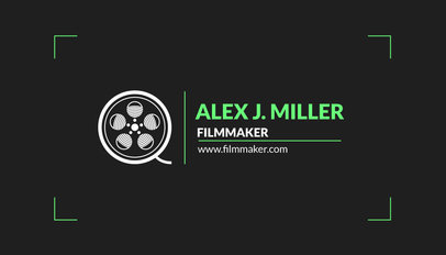 Film Studio Business Card Maker a217