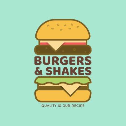 Burger Restaurant Logo Maker a1233