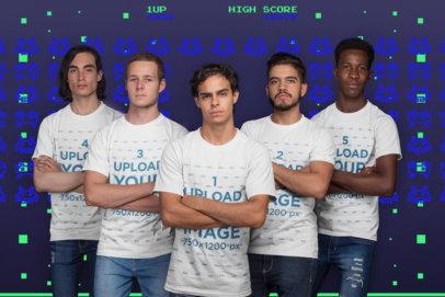 T-Shirt Mockup of an Esports Team a21087
