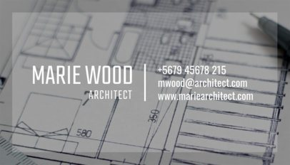 Architect Business Card Template a303