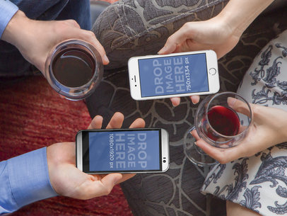 Celebrating With iPhone 6 and HTC