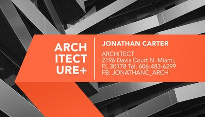 Architecture Firm Business Card Maker a316