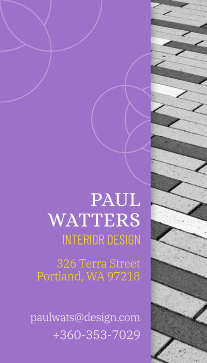 Vertical Business Card Maker for Interior Designers a312