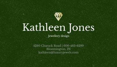 Jewelry Business Card Maker for Luxury Jewelers a305