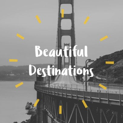 Social Media Post Template with a Travel Quote 16641a