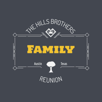Custom Family Reunion T-Shirt Maker 398c