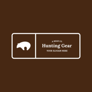 Badge Logo Maker for Hunting Stores 354a