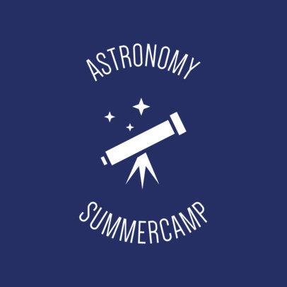 Astronomy Camp Logo Maker 56f