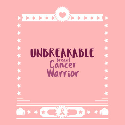 Breast Cancer Theme T-Shirt Maker 897d