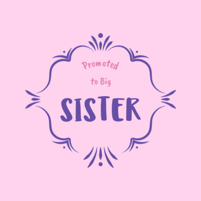 Big Sister T-Shirt Template 1021b
