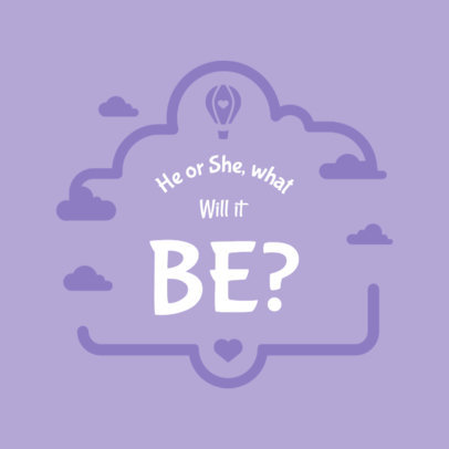 Gender Reveal T-Shirt Template 1021e