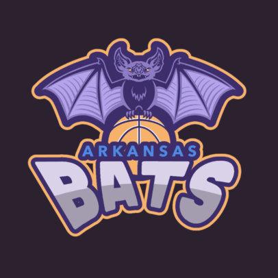 Basketball Logo Maker with Bat Icon 336a
