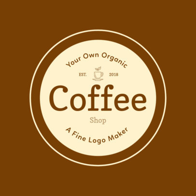Logo Template with Round Design for Coffee Shops 949b
