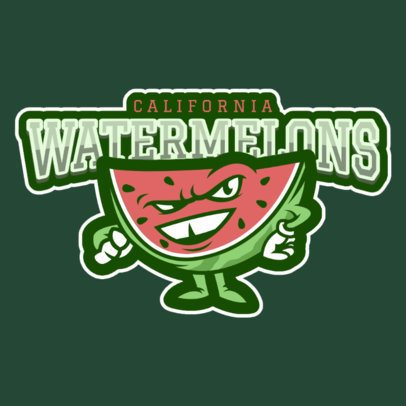 Sports Logo Maker with Watermelon Graphic 484a
