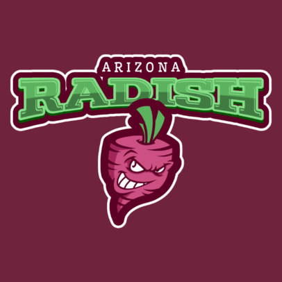 Sports Logo Template with Radish Icon 484b