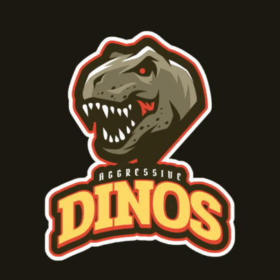Dangerous Dinosaurs Sports Logo Maker 21c