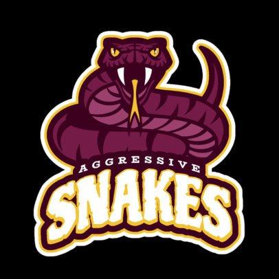 Sports Logo Maker with Snake Art 21d