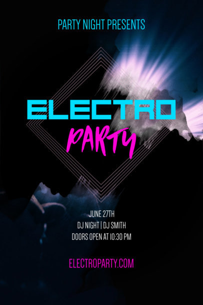Party Poster Template for an Electro Party 53e
