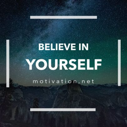 Social Media Post Generator with a Short Motivational Quote 16613a
