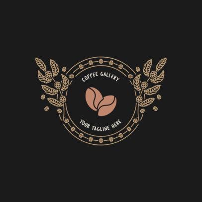 Badge Logo Maker of Cafe Shops 950b