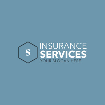 Insurance Company Logo Maker with Geometric Shapes 1017d