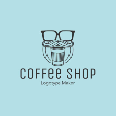Hipster Coffee Logo Maker 956b
