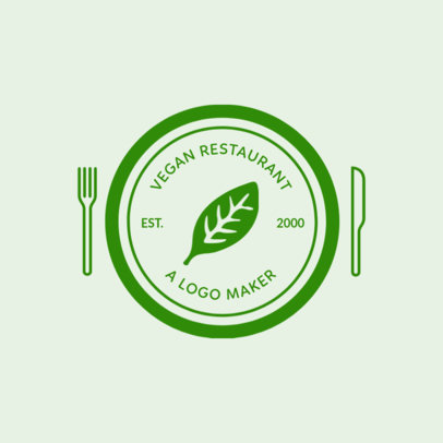 Vegetarian Logo Maker with Custom Badges 990f