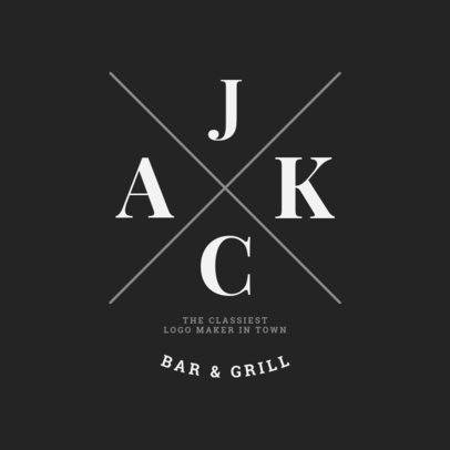 Bar and Grill Logo Maker 1021d