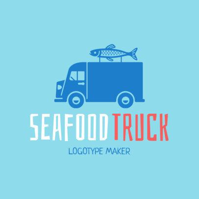 Seafood Truck Logo Maker 1030d