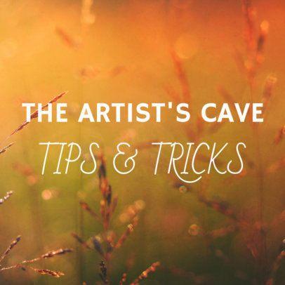 Artist Tips Social Media Post Template 564e