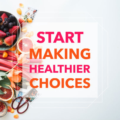 Healthy Lifestyle Social Media Post Template 582f