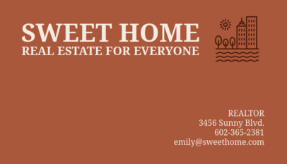 Business Card Maker for Real Estate Agents 66d