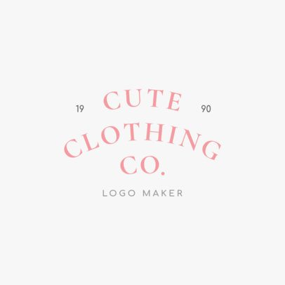 Fashion Shop Logo Maker with Curved Text 1067d