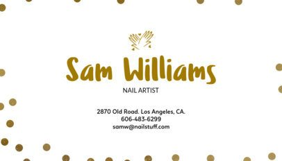 Minimalistic Business Card Design Maker for Nail Artists 67a