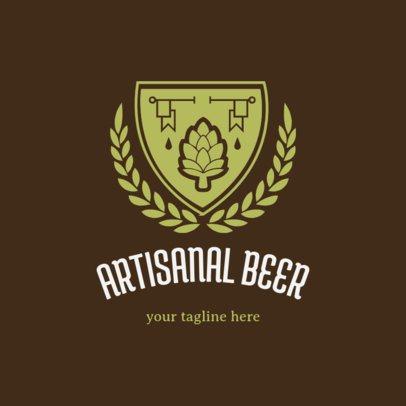 Craft Beer Logo Maker with Shields Symbols 1061b