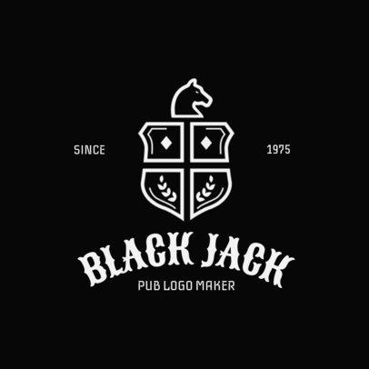 Pub Logo Maker with Medieval Shields Graphics 1061c