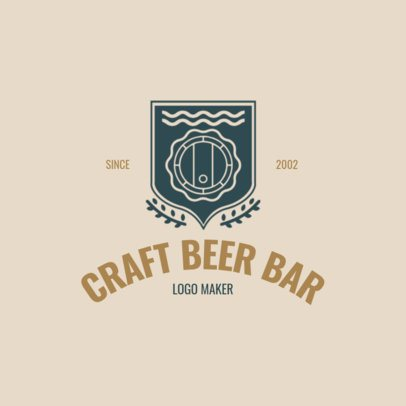 Brewing Company Logo Maker with Barrels Images 1061e