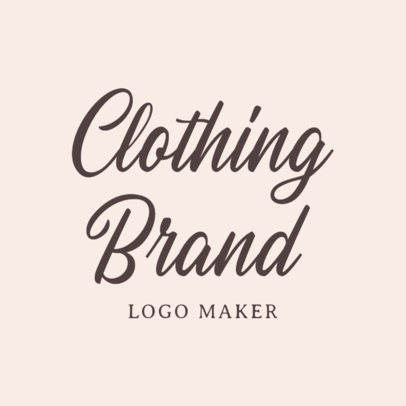 Handwritten Logo Maker for Clothing Brand 1077a