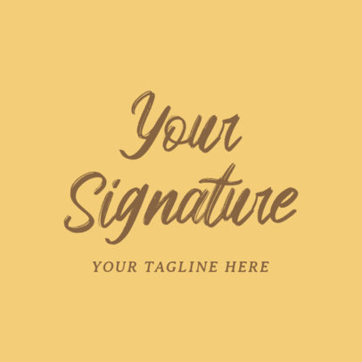Signature Logo Maker for Fashion Business 1077d